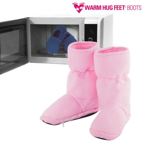 Warm Hug Feet Škornji za Mikrovalovko - Roza - L